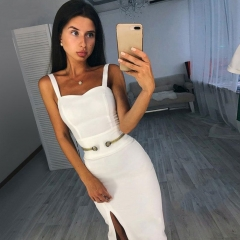 Adyce 2019 New Summer Bandage Dress Women Elegant Celebrity Evening Party Dress Vestido Sexy Spaghetti Strap Deep V Club Dresses
