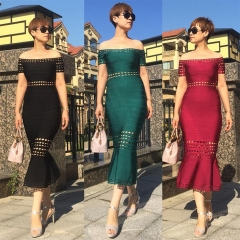 Adyce New Summer Black Bandage Dress Women Sexy Off the Shoulder Midi Wine Red Green Celebrity Party Club Dress Vestidos