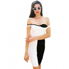 Adyce New Summer Off Shoulder Women Bandage Dress Vestidos Verano Sexy Slash Neck Club Dresses Celebrity Party Runway Dress
