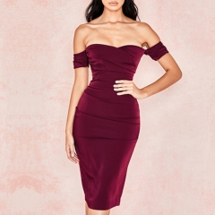 Adyce New Summer Women Off Shoulder Celebrity Evening Party Dress Vestidos Verano 2019 Elegant Slash Neck Bodycon Club Dresses