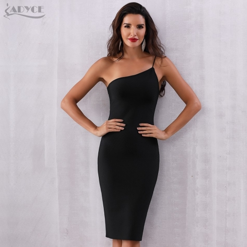 ADYCE 2019 New Summer Bandage Dress Women Vestidos Sexy One Shoulder Spaghetti Strap Club Dress Celebrity Evening Party Dresses