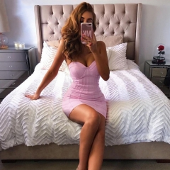 Adyce Summer Pink Bandage Dress Women Vestidos Verano 2019 New Sexy Sleeveless Strapless Club Dress Celebrity Party Runway Dress