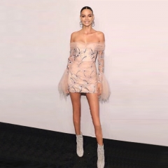 Adyce 2019 New Summer Women Celebrity Party Dress Vestidos Sexy Lace Pink Slash Neck Elegant Off Shoulder Bodycon Club Dresses
