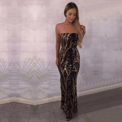 Adyce 2019 New Summer Celebrity Evening Party Dress Women Vestidos Sexy Strapless Maxi Backless Sleeveless Club Sequined Dresses