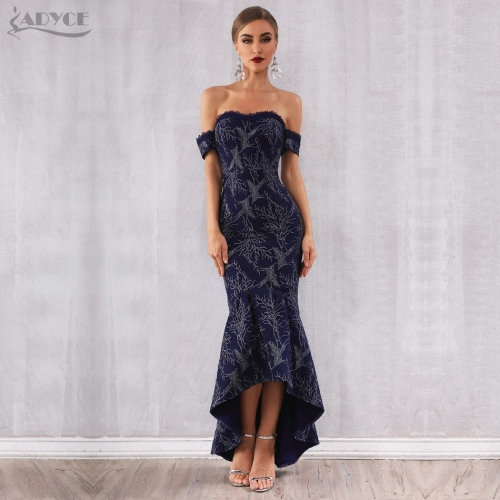Adyce New Summer Women Bandage Dress Vestidos Verano 2019 Sexy Off Shoulder Strapless Elegant Club Celebrity Party Runway Dress