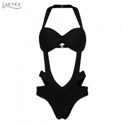 ADYCE Top Quality New Summer Black Bikini Hollow Out Women Fashion Sexy Bandage Swimsuit Bodysuits Free shipping