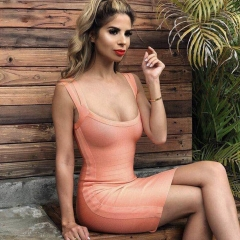 ADYCE 2019 New Summer Women Bandage Dress Celebrity Party Club Dress Sexy Sleeveless Midi Spaghetti Strap Bodycon Dress Vestidos