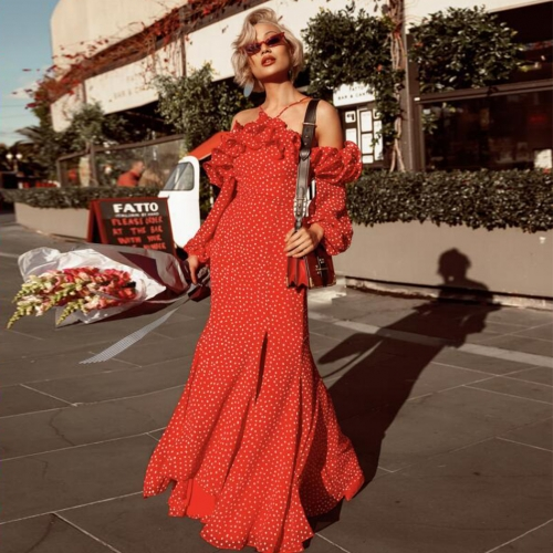 ADYCE New Women Celebrity Evening Party Dress Sexy Off Shoulder Ruffles Halter Long Sleeve Maxi Bodycon Club Dress Vestidos