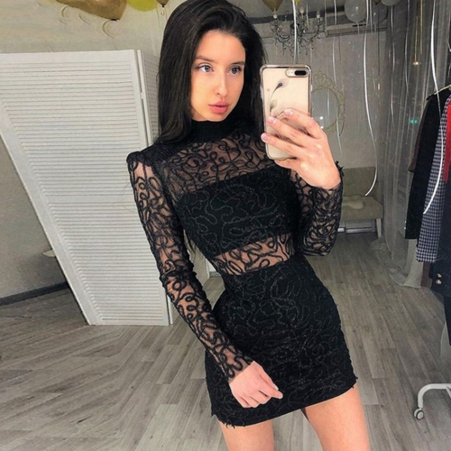 Pre-sale ADYCE 2019 New Summer Women Bandage Dress Sexy Black Hollow Out Lace Club Dress Vestido Celebrity Evening Party Dresses