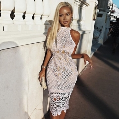 ADYCE Summer Women Bandage Dress Vestido 2019 New Summer Sexy Lace Halter Backless Sleeveless Bodycon Club Celebrity Party Dress