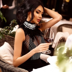 Adyce 2019 New Women Bandage Dress Sleeveless Black Feather Bead Club Dress Vestido Luxury Diamond Celebrity Evening Party Dress