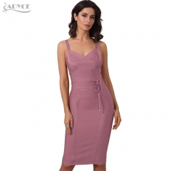 Adyce Clothing Women Summer Bandage Dress 2019 Sexy Celebrity Party Dress Nightclub Spaghetti Strap Bodycon Club Dress Vestidos
