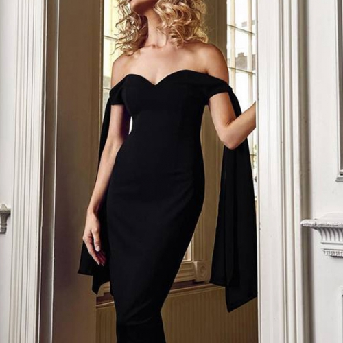 Adyce 2019 New Summer Women Bandage Dress Vestido Black Slash Neck Celebrity Party Dress Elegant Off Shoulder Bodycon Club Dress