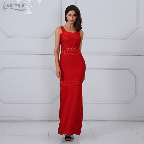 Adyce New Arrival Summer Maxi Dresses Chic Sexy Red Sleeveless Tank Women Long Bandage Dress Celebrity Party Dress Vestidos