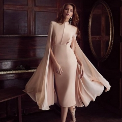 ADYCE 2019 Sexy Women Bodycon Summer Runway Dress Pink O-Neck Batwing Sleeve Midi Luxury Celebrity Party Club Dresses Vestidos