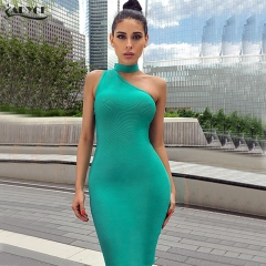 Adyce New Fashion Summer Women Bandage Dress Hollow Out Halter Mini Dress Celebrity Evening Party Dresses Vestido Clubwears