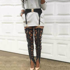 Adyce 2019 New Arrival Summer Women Black Bandage Pants Trousers Sexy Hollow Out Club Pencil Pants Sexy Celebrity Party Pants