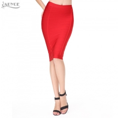 Adyce Brand New Sexy Women Pencil Skirt Solid Color Knee-length Elegant Celebrity Party Prom Bodycon Bandage Skirts Dropshipping