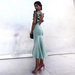 Adyce Summer Celebrity Party Dress Women Vestidos Verano 2019 Violet Green Ruffles Butterfly Sleeveless Backless Mermaid Dresses