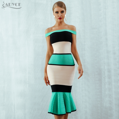 Adyce New Summer Bandage Dress Women Vestidos 2019 Sexy Slash Neck Short Sleeveless Off Shoulder Celebrity Evening Party Dresses