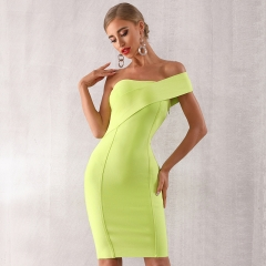 ADYCE 2019 New Summer Women Bandage Dress Sexy One Shoulder Sleeveless Bodycon Club Dress Vestido Celebrity Evening Party Dress