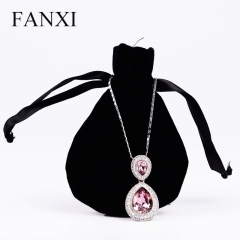 FANXI Wholesale Custom Logo Round Bottom Drawstring Jeweller...