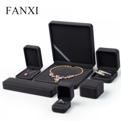 FANXI Custom Logo Plastic Packaging Boxes For Ring Necklace ...