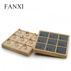FANXI Wholesale Custom Solid Wood Jewelry Organizer With Mic...