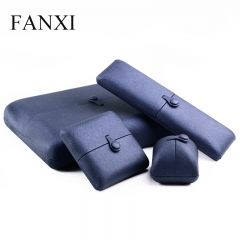 FANXI Custom Logo Jewelry Packaging Boxes With Black Velvet ...