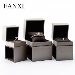 FANXI Custom Logo Leatherette Paper Jewellery Boxes With Mic...