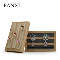 FANXI Custom Natural Wood Jewelry Shop Showcase Display Prop...