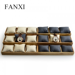 FANXI OEM Custom Solid Wood Jewellery Bangle Bracelet Exhibi...