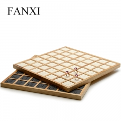 FANXI Wholesale Custom Big Jewelry Display Trays With Beige ...