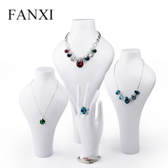 FANXI Custom White Lacquer Necklace Busts Resin Necklace Dis...