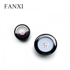 FANXI Cunstom Glossy Black Diamond Display Box With Foam Ins...