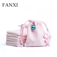 FANXI Custom Logo Jewellery Pouch Bag For Ring Necklace Watc...