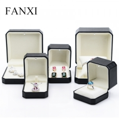 FANXI Custom Jewellery Packaging Boxes Velvet Insert For Rin...