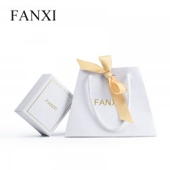 FANXI Wholesale Custom Logo Paper Shopping Bags With Ribbon ...