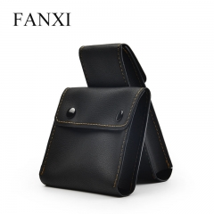 FANXI Custom PU jewelry Bag With Gold Sewing For Watch Shop ...
