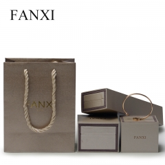 FANXI High Quality Custom Logo Coated Paper Jewelry Bag For ...