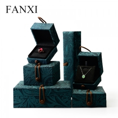 FANXI Unique Handmade Chinese Green Silk Embroidery Suede In...
