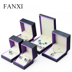 FANXI Custom Jewellery Packaging Box With Beige Velvet Inser...
