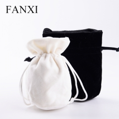 FANXI China Wholesale Custom logo black white Velvet Jewelry...