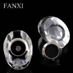 FANXI Exquisite custom Clear Crystal Shop Exhibitor Case Egg...