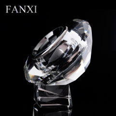 FANXI Custom logo Loose Diamond Box With Metal Round Diamond...