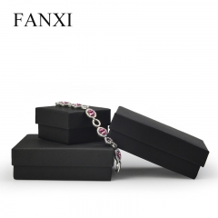 FANXI Custom Logo Cardboard Jewelry Gift Boxes For Ring Earr...