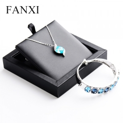 FANXI Simple PU Leather Small Necklace Bangle Tray For Count...