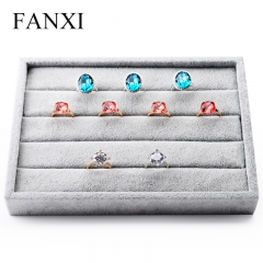 FANXI Custom high-capacity silver gray ice velvet counter se...