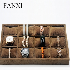 FANXI Functional Shop Organizer 12 Pillows Silver Grey Watch...