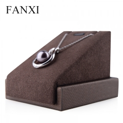FANXI Wood Wrapped With Microfiber For Earrings Pendant Orga...